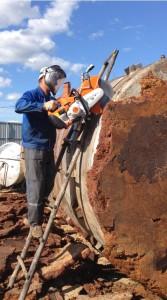 Демонтаж резервуаров из алюминия нержавейки и черного металла